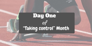 Take back control - picture of a runner at the starting block