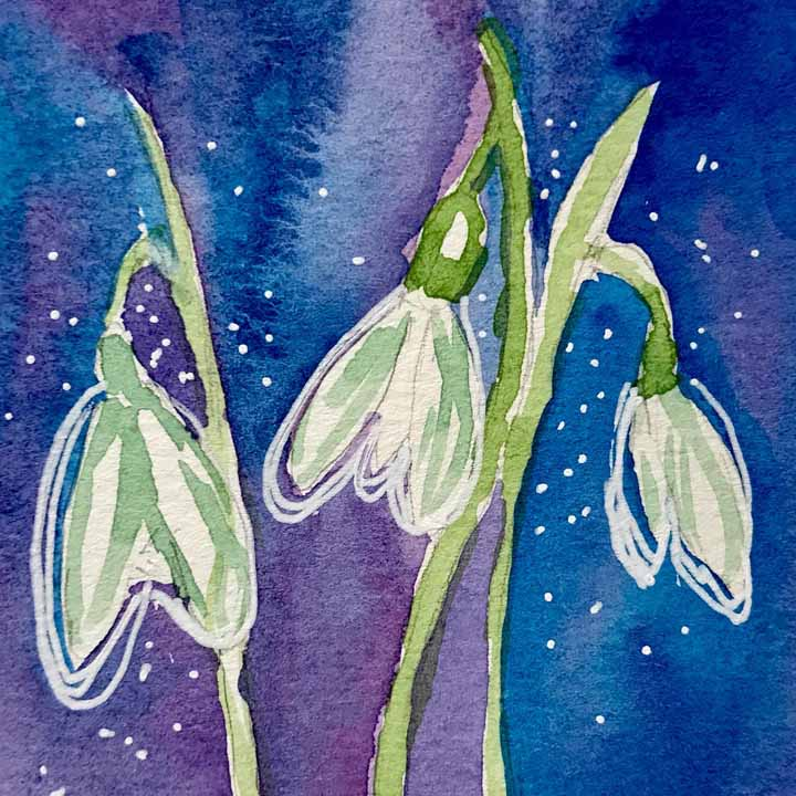 watercolour with negative painting